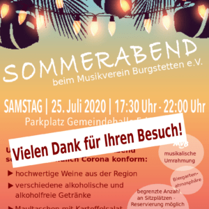 Read more about the article Sommerabend beim Musikverein Burgstetten
