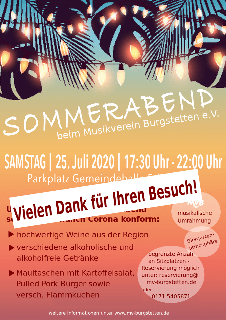 You are currently viewing Sommerabend beim Musikverein Burgstetten
